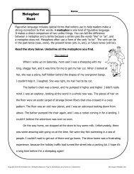 Metaphor Hunt | Figurative Language Worksheets