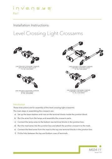 Level Crossing Light Crossarms - Invensys Rail