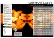 Kursprogramm Leibundgut 10 Okt - LEIBUNDGUT AG