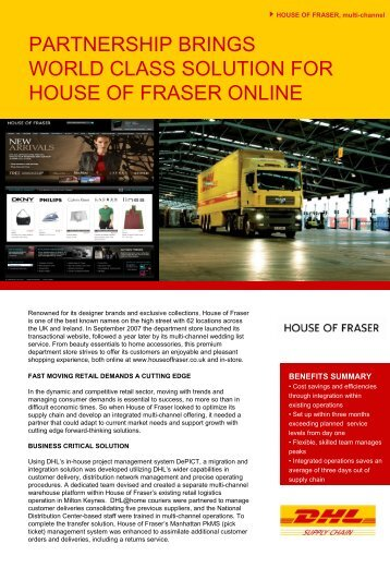 PARTNERSHIP BRINGS WORLD CLASS SOLUTION FOR HOUSE ...