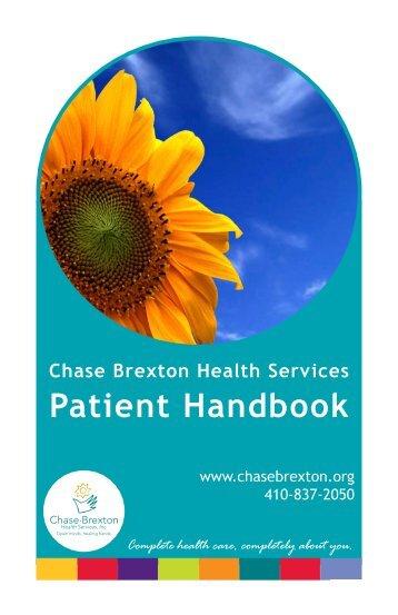 Patient Handbook - Chase Brexton Health Services