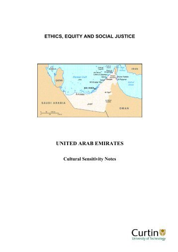 United Arab Emirates - Ethics, Equity & Social Justice - Curtin ...
