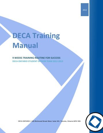 Deca manual Presentation