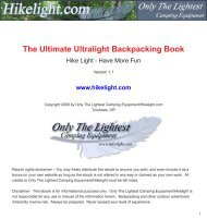 The Ultimate Ultralight Backpacking Book - Hikelight.com