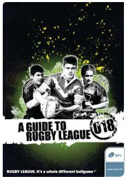 Under 18's Players Leaflet - Rugby Football League