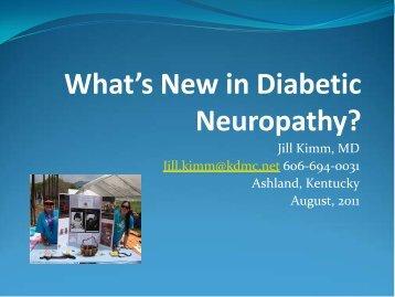What's New in Diabetic Neuropathy?
