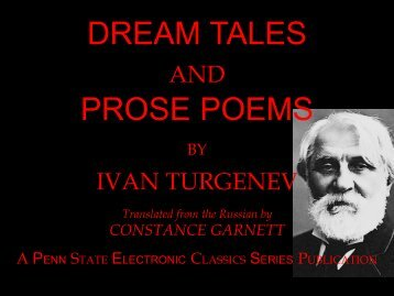 Dream Tales and Prose Poems - Penn State University