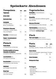 Abendkarte - Genossenschaft Kreuz Solothurn