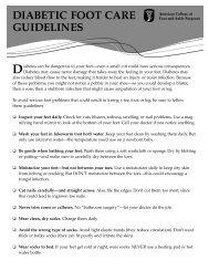 Soadi Foot Care Program Guidelines Manual Southern Ontario