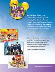 Magic of Healthy Living - The Walt Disney Company