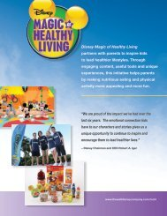 Magic of Healthy Living - The Walt Disney Company