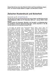Zwischen Kostendruck und Sicherheit - ILP Lüthi + Partner AG