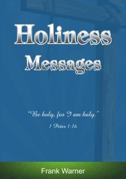 Holiness Messages - Holiness and Perfection