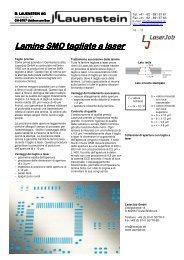 Lamine SMD tagliate a laser tagliate a laser