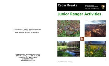 Junior Ranger Activities - National Park Service
