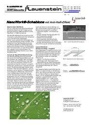 Nanowork® Nanowork®-Schablone Schablone