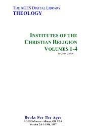 Calvin - Institutes of the Christian Religion