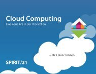 Cloud Computing Cloud Computing - Spirit 21