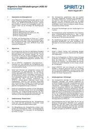 Allgemeine Geschäftsbedingungen (AGB) für ... - Spirit 21