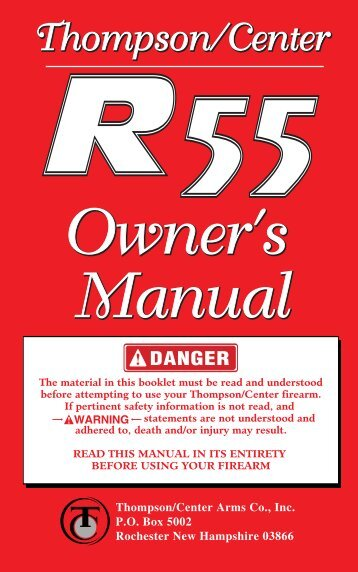 Owner's Owner's Manual Owner's Owner's Manual - Thompson ...