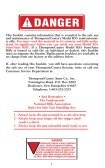 Owner's Owner's Manual Owner's Owner's Manual - Thompson ... - Page 3