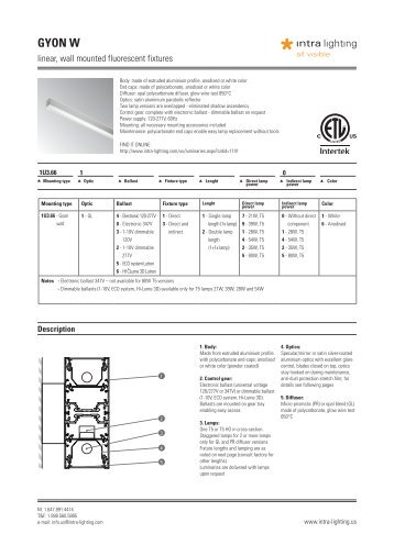 Product catalogue - Intra lighting