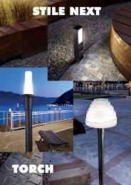 Pole-mounted black torch - Silumin