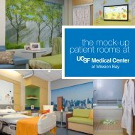 the mock-up patient rooms at - UCSF Medical Center at Mission Bay