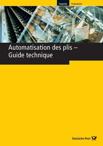 Automatisation des plis -; Guide technique
