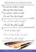 sample booklet pdf - Calligraphy Studio - Page 3