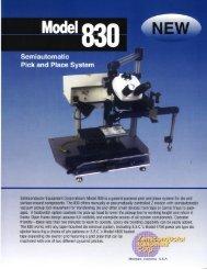 SEC Model 830 Brochure - Semiconductor Equipment Corporation