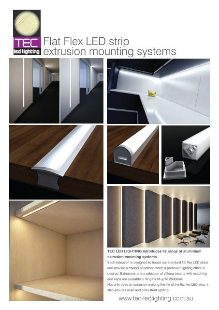 Flat Flex Led Strip Extrusion Mounting