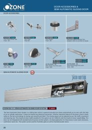 DOOR ACCESSORIES & SEMI AUTOMATIC SLIDING DOOR