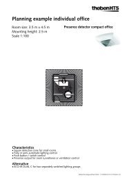 Planning example: Presence detector - Theben