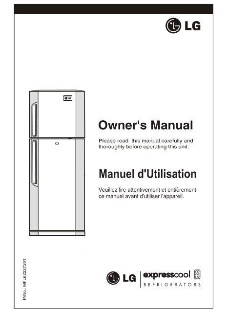 lg refrigerator manual pdf