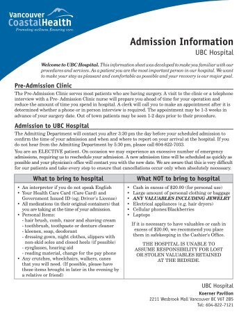 Surgery and admission report patient