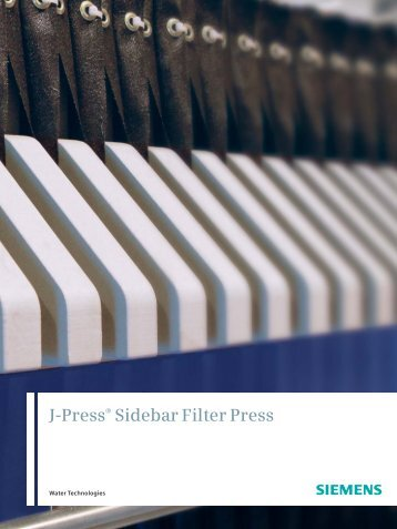 J- Press Sidebar Filter Press Brochure - Siemens Water Technologies