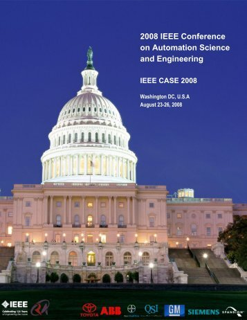 2008 IEEE Conference on Automation Science and Engineering