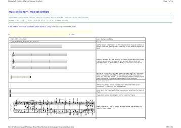 music dictionary : musical symbols - Riverside Music