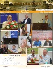 October - December 2012 - The International Centre Goa