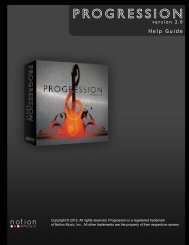 Progression 2 Guide - NOTION Music, Inc.