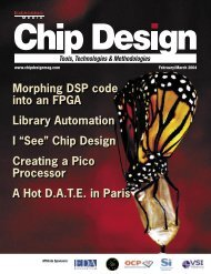 Morphing DSP code into an FPGA Library Automation ... - Chip Design