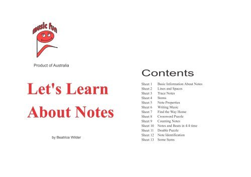 Let 39 S Learn About Notes Music Fun Worksheets
