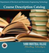 Departments' Brochure - Yanbu Industrial College