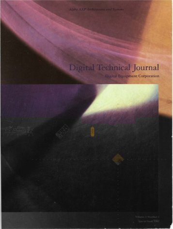 DTJ Volume 4 Number 4 Special Edition 1992 - Digital Technical ...