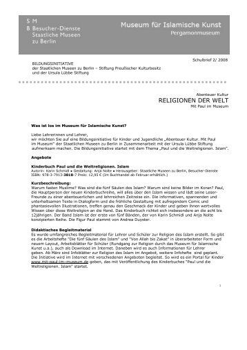 Schulbrief 2 - Staatliche Museen zu Berlin