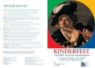 Programm zum Kinderfest - Staatliche Museen zu Berlin