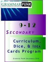 GrammarPunk™ 9 - 12 Secondary Curriculum Excerpts
