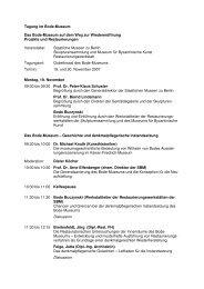 Tagung im Bode-Museum Das Bode-Museum auf dem Weg zur ...