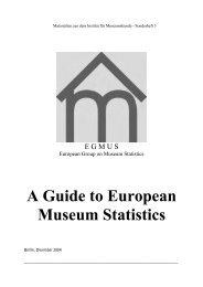 A Guide to European Museum Statistics - Staatliche Museen zu Berlin